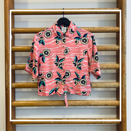 Lee knotted resort shirt cherry blossom