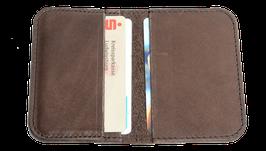 Kreditcard Wallet schokobraun