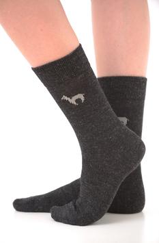 Alpaka-Socken dunkelgrau (anthrazit)