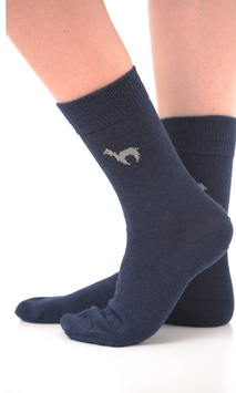 Alpaka-Socken Blau