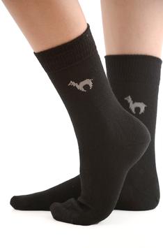 Alpaka-Socken schwarz