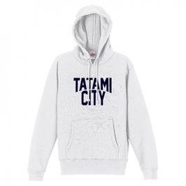 【送料込】TATAMI CITY パーカー (ホワイト)