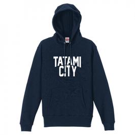 【送料込】TATAMI CITY パーカー (ネイビー)
