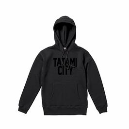 【送料込】TATAMI CITY パーカー (Black×Black)