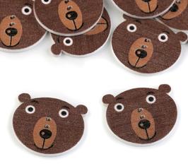 Holzknöpfe Bär