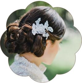 CALISTA Haarschmuck Spitze Braut Hochzeit