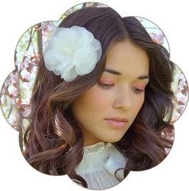 AMARIS Haarblüte Hochzeit Ivory Creme