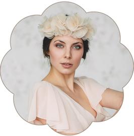 FLORA Blumenhaarkranz Pastell
