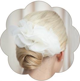 LISETTE Blütengesteck Braut Hochzeit Ivory