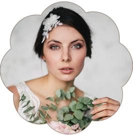 EMILIA Brauthaarschmuck Spitze Blüten