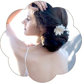 CHARLENE Haarschmuck 3D Spitze Hochzeit