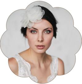 DIANA Seidenblüten Hochzeit Ivory Creme
