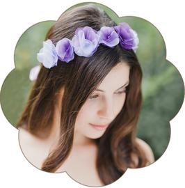 LAVENDER Blüten Haarkranz Seide