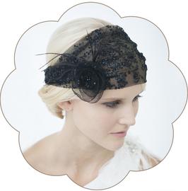 PENELOPE I Haarband 20er Jahre Gatsby schwarz