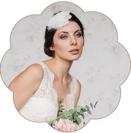 PATRICIA Ferderhaarschmuck Spitze Fascinator Braut