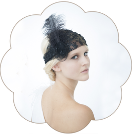 PENELOPE II Haarband 20er Jahre Gatsby schwarz