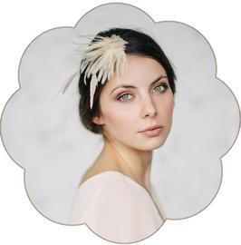 ERIN Haarschmuck Federn Seidenblüten pastell