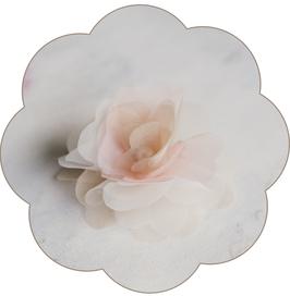 PHILIPPA Haarblüte Perle Braut Seide pastell
