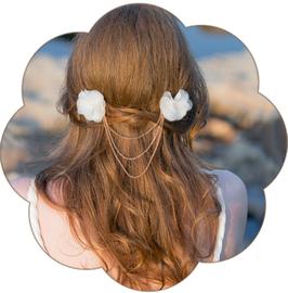 GINE Haarschmuck Blüten Braut