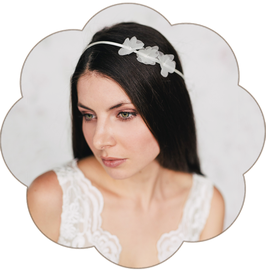 LISA Haarband Blüten Seide fein Braut