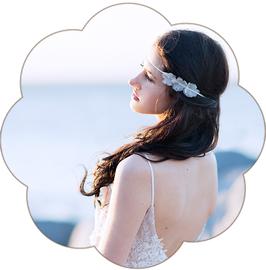 LIZZY Haarband Blüten Seide zart Braut