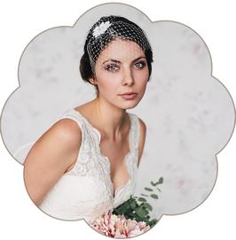 CAROLINE Fascinator Spitze Braut