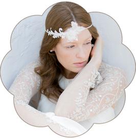 AUDREY Haarband Braut Haarschmuck Spitze