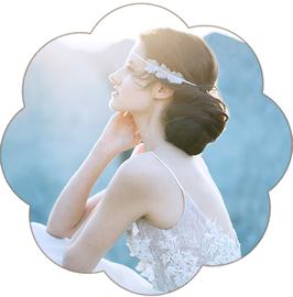 LILLY Haarband Blüten Seide zart Braut