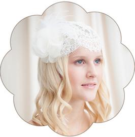 ISABELLE Braut Kopfschmuck Spitze Seide