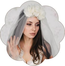 MARA Blütengesteck Seide Braut