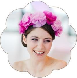 LAETITIA Blüten Haarreif Haarkranz Seide