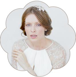 FLO Kopfschmuck Spitze Braut Vintage