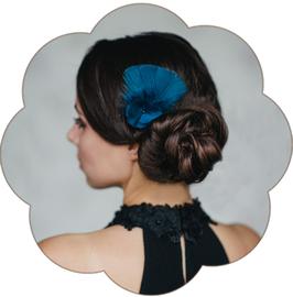 TONIA Haarschmuck Blau klein