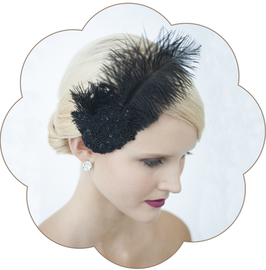 DANIELLE Spitzen Haarschmuck Gatsby Stil
