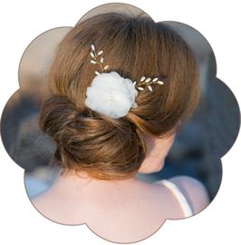 GABY Haarblüte Seide Perlen Braut