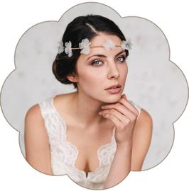 AMELIE Haarkranz Blüten Hochzeit