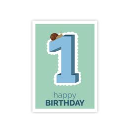 Geburtstags Postkarte 1