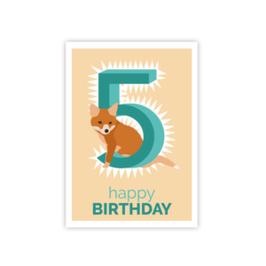 Geburtstags Postkarte 5