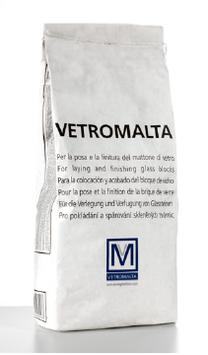 Glassteinmörtel 25 kg Grau - SEVES Vetromalta