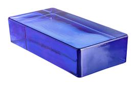 Glasziegel Vetropieno Rettangolare Blu