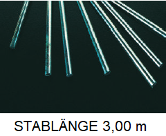 Edelstahl  Rundstahl AISI 430 Bewehrungsstahl Baustahl Ø 6 mm L = 3,00 m