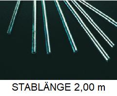 Edelstahl  Rundstahl AISI 430 Bewehrungsstahl Baustahl Ø 6 mm L = 2,00 m