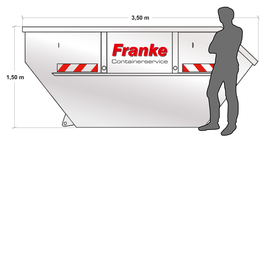 Container 7 cbm für Baumischabfälle