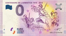 Billet touristique 0€ CENTENAIRE DE L'ARMISTICE 2018 numéro 1 à 100