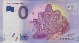 Billet touristique 0€ Zoo Duisburg singes 2017
