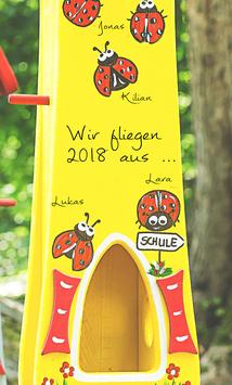 Kindergarten Abschiedsgeschenk XL Modell  Vogelhaus Marienkäfer