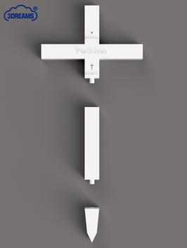 Grabkreuz für Haustiere Größe M