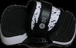 SLICE Pro Kiteboardbindung Set DOTS black-white