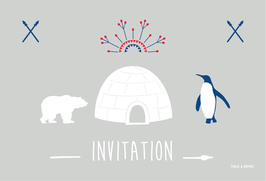 Cartes d'invitation igloo