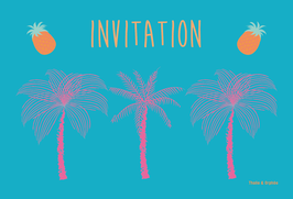 Cartes d'invitation palmiers